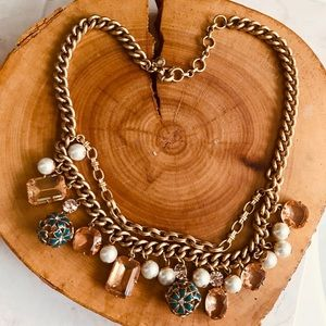 💝Dazzling JCrew Charms Gold layered Necklace💝